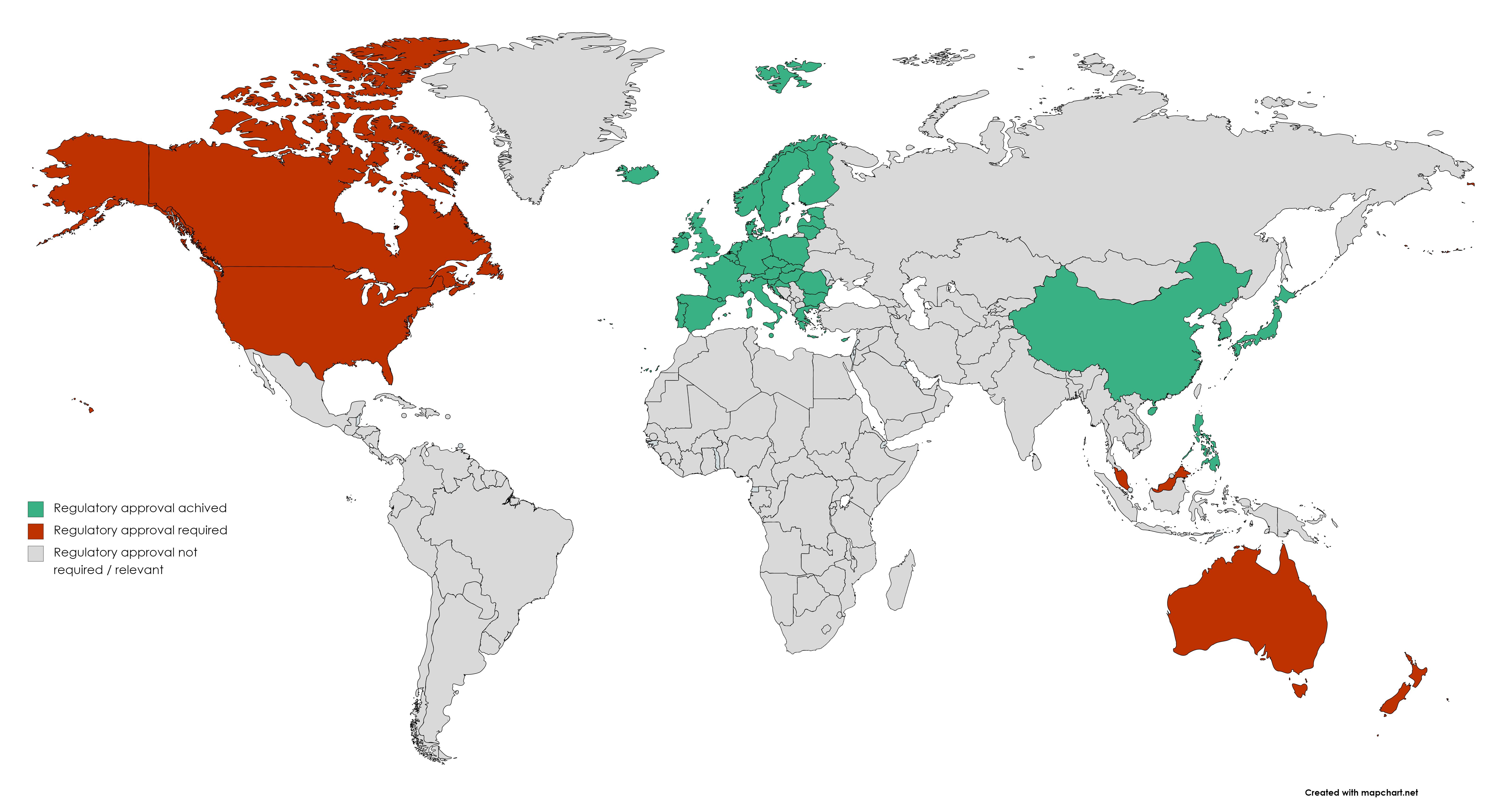 Regulatory map